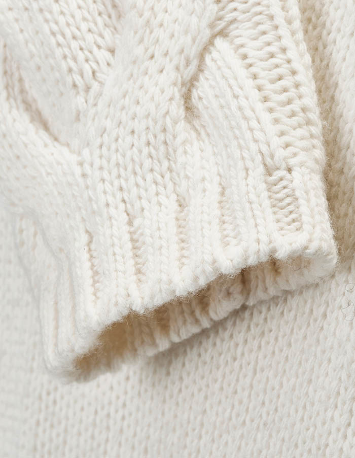 STRICK-PULLOVER MIT ZOPFMUSTER